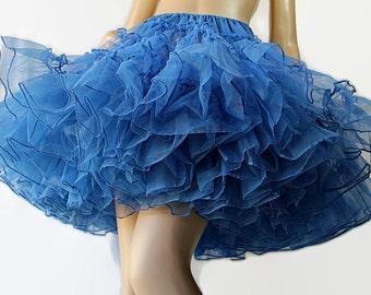 60s 70s RutHad Blue Petticoat Swing Square Dance