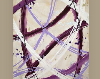 """Art and Collectibles, Abstract Painting,Art,Canvas Art,Acrylic Painting,Original Paintings By Ora Birenbaum Titled: Free To Be 24x36x1.5"""""""