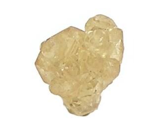 Grossular Garnet Yellow Semiprecious Genuine Gemstone Crystal Mined in China Thumbnail Mineral Specimen Earth Treasure Wear it or Display it