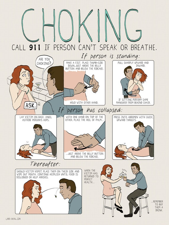 """Choking Poster by Lara Antal (featured in the Wall Street Journal!) - - 18""""x24"""""""
