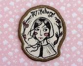 salem witch girl Patch - Khaki edging