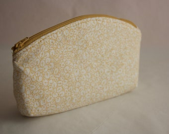 Small Zippered Toiletry or Makeup bag