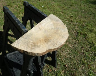 Unfinished Yellow Pine Wood Slab, Save Money With Elbow Grease Or Use As Is,