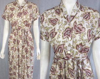 1940s shirtwaist dress