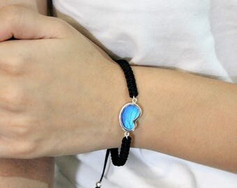 Real butterfly jewelry Blue bracelet Insect jewelry Gift for women Nature bracelet gift Everyday bracelet Gift friendship bracelet