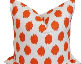 ORANGE PILLOW SALE.18x18 inch.Decorative Pillow Cover.Orange Throw Pillow. Orange Accent Pillow. Orange Couch Pillow. Orange Cushion Cover.