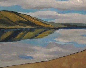 Columbia River Reflections Original Oil Painting