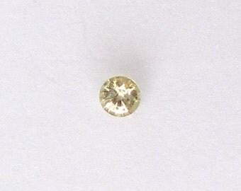 Natural Yellow Chrysoberyl, Unheated, Round Cut, 0.52 carat
