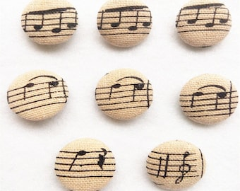 Fabric Cover Button Music Button Sewing Button Small Button 15mm 22mm Button Supplier
