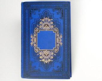 Wedding Guestbook, Unique Instant Photo Scrapbook, Rebound Antique French Blue Book
