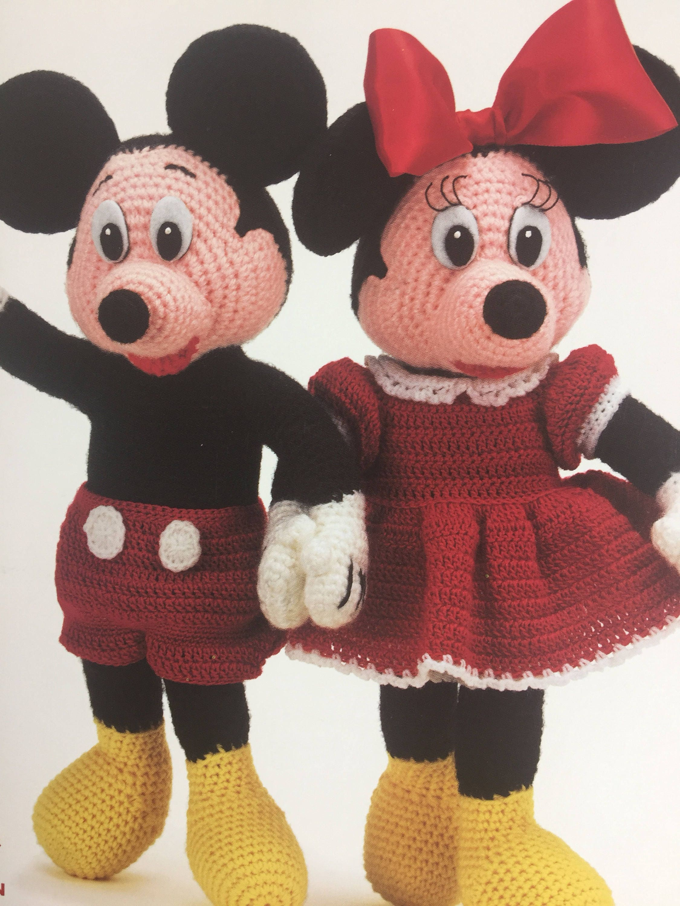 Mickey and minnie mouse dolls crochet pattern disney crochet sold by elliemariedesigns bankloansurffo Choice Image