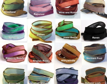 Extra Silk Ribbon - More Colours for your Wrap Bracelet