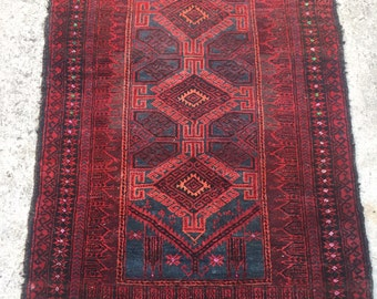 Semi Antique Handknotted soft Wool Persian Rug 3x5