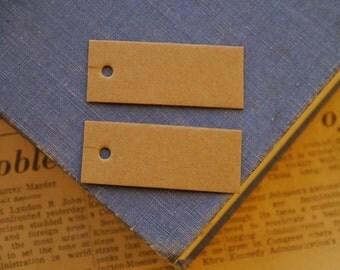 50pcs Blank Tags Labels Kraft Brown Knitting Tag Price Tag Label 48 x 20mm (SL3132)