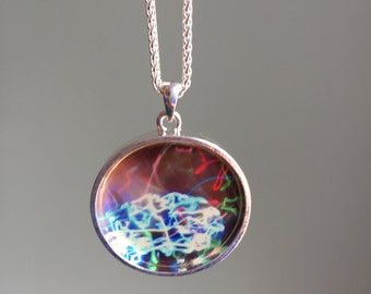 SALE*  Print inside of a necklace, ready to wear!