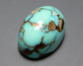 RESERVED for H - Nevada Blue Mine Natural Turquoise Cabochon from Nevada, 13.48 ct.