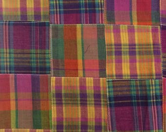 Madras Patchwork Fabric / Madras Fabric / Cotton Fabric / Cotton Madras Fabric / Patchwork Fabric