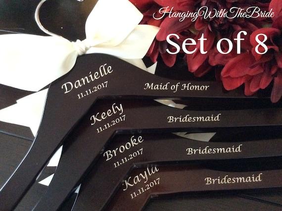 Bridal hanger, Wedding dress hanger, Custom Bridal Hangers,Bridesmaids gift, Wedding hangers with names,Custom made hangers