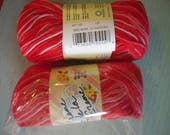 Creme de la Creme Cotton Yarn NEW OVERSTOCK - 100 Yards  Royal Red Jade  Red Heart