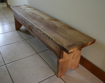 Rustic Wood Bench Kids size, great for entryway or bedroom anywhere kids seating is needed