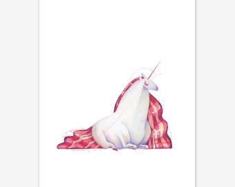 Unicorn Mythical Creature Print A5