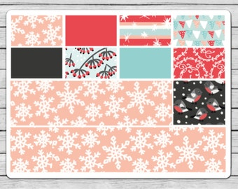 Snow Birds Bottom Washi Planner Stickers