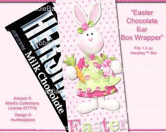 E15 - Easter Chocolate Bar Box - Digital Download