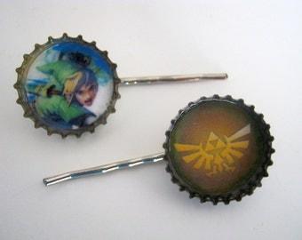 Zelda Gamer Link Bobby Pins