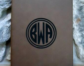 PERSONALIZED  Zippered Leatherette Portfolio, Monogrammed Portfolio, Portfolio with Logo, Portfolio with Brand, Zippered Portfolio
