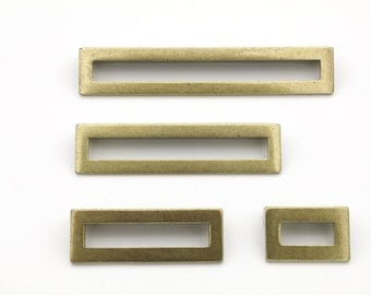 "Antique Brass ""Linea"" Drawer Pulls - Brass Drawer Pull - Cabinet Pull"