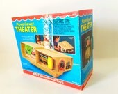 Vintage Fisher Price Movie Viewer Theater 463 Complete with Box and Cartridge, Mickey Mouse and the Giant