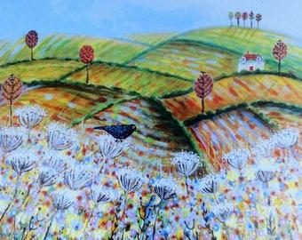 Russet Meadows, blank greetings card