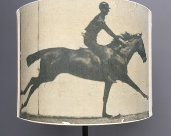 Horse in motion - 30cm drum lampshade - Kettle of Fish - Muybridge lampshade