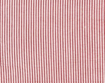 Robert Kaufman CXS-2901-9 CRIMSON from Seersucker Stripe/Check