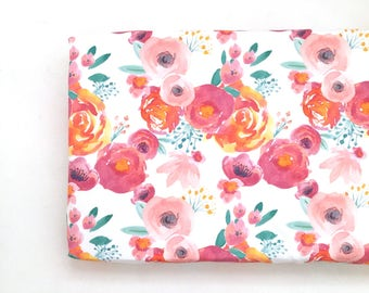 Changing Pad Cover Indy Bloom White. Change Pad. Changing Pad. Minky Changing Pad Cover. Floral Changing Pad Cover. Changing Pad Girl.