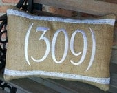 """Area Code Accent Pillow 12x16"""""""