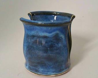 Blue tonal Ceramic Pottery Sponge Holder