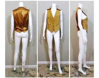 PAN - ASIA Women's Suede Leather Vest Size L Large