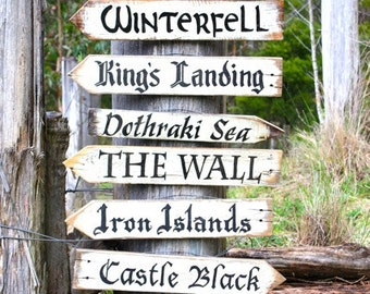 Far Away Signs - Game of Thrones / Signs sold individually