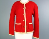 Red Sweater / Vtg 60s / H...