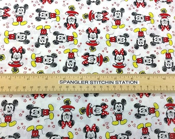 Mickey Mouse and Friends - Cotton Quilting Fabric - Camelot Fabrics - CC-01
