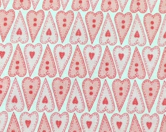 Pink Hearts Hearts - Basically Hugs - Cotton Fabric - Red Rooster Fabrics - HEART-02