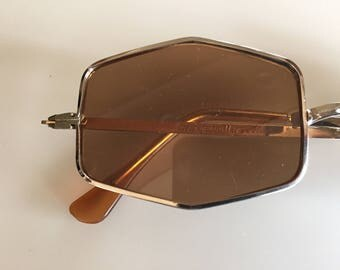 Vintage 60s Gold FOSTER GRANT Sunglasses