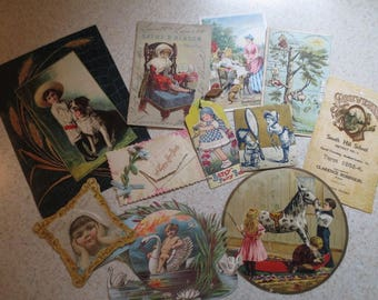 Antique Ephemera Lot of 11 Fabulous Images - Advertising - Palmer Cox