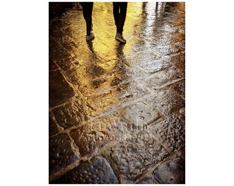 Walk in the Rain, Street Photography, Florence, Italy, Tuscan Gold, Ponte Vecchio, Travel Photography