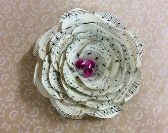 Sheet Music Paper Flower