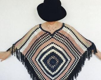 Crochet Poncho Shawl ,Womens Poncho ,Crochet Poncho