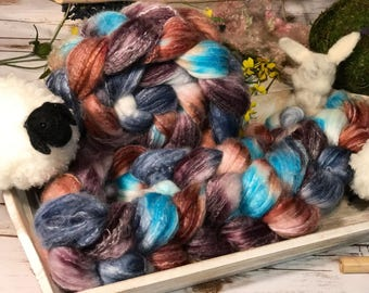 Panda Top Superwash Bamboo Nylon   Seaside Landscapes Edition   Mother Earth   Spinning Roving 4 oz
