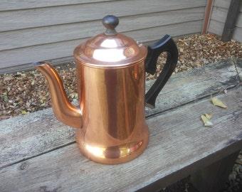 Vintage Copper Coffee Pot - Copper Teapot - Pilgrim Ware Copper