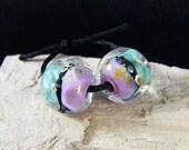 Handmade Lampwork Beads - Earring Pairs ~ Blissful-Southwest-Boho-Lampies